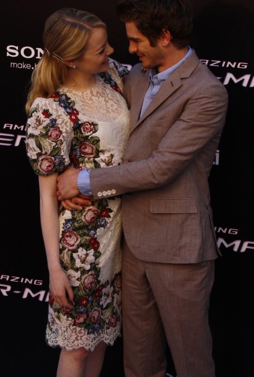 """Emma Stone y Andrew Garfield en la premiere de """"Amazing Spiderman"""" en Madrid"""