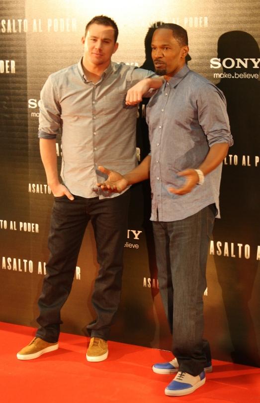 "Channing Tatum y Jamie Foxx presentaron ""Asalto al poder"" en Madrid"