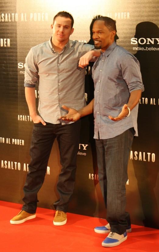 """Channing Tatum y Jamie Foxx en Madrid presentando """"Asalto al poder"""""""